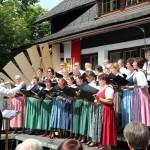 Gruppenfoto der Chorgemeinschaft Freistadt am Regionalchorfest Windhaag 2012