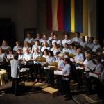 Gruppenfoto der Chorgemeinschaft Freistadt beim Schwedenkonzert 2010 im Salzhof Freistadt